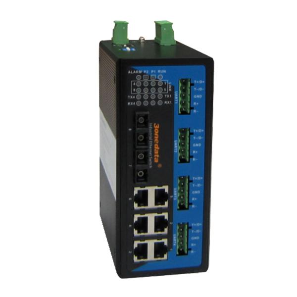 Switch Công Nghiệp 6 Cổng Ethetnet + 2 Cổng Quang + 4 Cổng RS-485/422